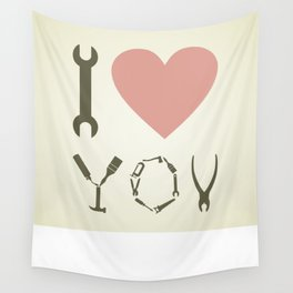 Love tool Wall Tapestry