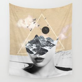 collage art / Wild Nature Wall Tapestry