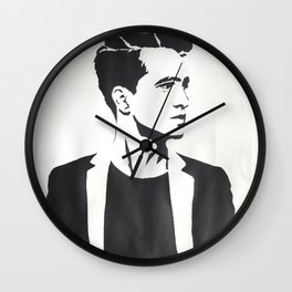 Brendon Urie Black and White Print Wall Clock
