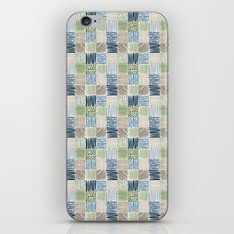 Jungle Set | hand illustrated quilt pattern iPhone Skin