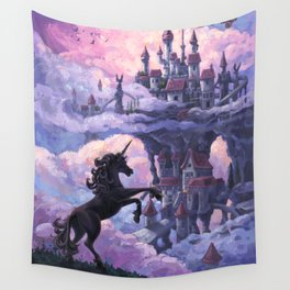 Unicorn Castle Wall Tapestry