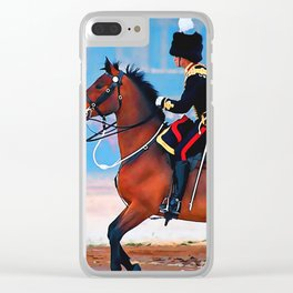 The King's Troop Ceremonial Horses Clear iPhone Case