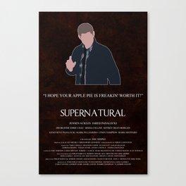 Supernatural - Dean Winchester Canvas Print