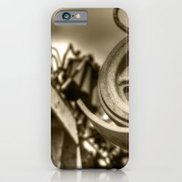 Combine Cog Machine Detail Abstract Sepia iPhone Case