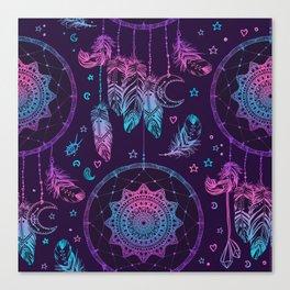 Ultra Violet Dreams, Dream Catcher Enchantment Canvas Print