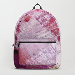 Magnetic [10]: a minimal abstract piece in gold, pink, red, white and purple Backpack