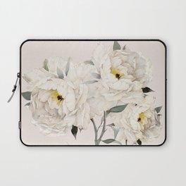White Peonies Laptop Sleeve