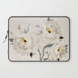 White Peonies Laptop Sleeve
