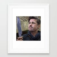 brad pitt Framed Art Prints featuring Brad Pitt by Carl Ellistration