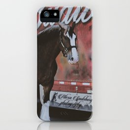 Jack the Budweiser Clydesdale iPhone Case