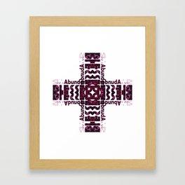 She's Abundantly Blessed Cross Framed Art Print