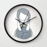 shadow Wall Clocks featuring Shadow by Siobhian Carroll
