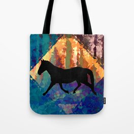 Horse Abstract Tote Bag