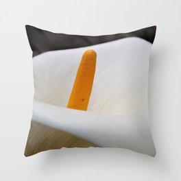 pretty white flower Throw Pillow