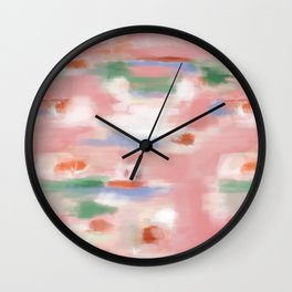 Abstract watercolor patch Wall Clock