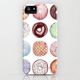 Dozen Donuts Watercolor iPhone Case