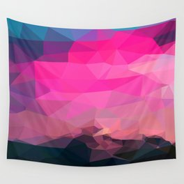 Poly-Sunrise Wall Tapestry