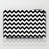 chevron iPad Cases featuring Chevron (Black/White) by 10813 Apparel