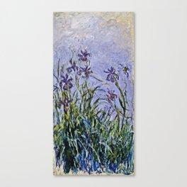 Claude Monet  -  Iris Mauves Canvas Print
