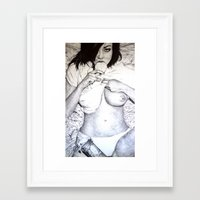 cookie Framed Art Prints featuring Cookie by Florian Proust