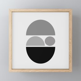 Zen Baby - Calm Abstract - Black White Grey Framed Mini Art Print