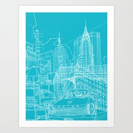 Blueprint art prints society6 blueprint art print malvernweather Image collections