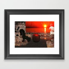 the apple that launched the thousand ships: the story of Troy Framed Art Print