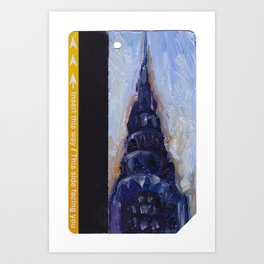 Subway Card Chrysler Building No. 9 Art Print
