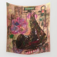 jazz Wall Tapestries featuring Jazz by Teresa Cook Art