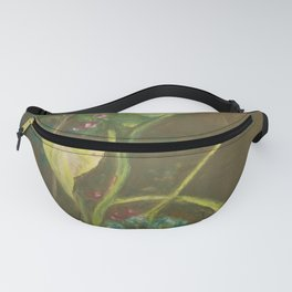 Lilly and Camelia pastel painting Fanny Pack