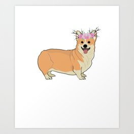 Corgi Design Art Print
