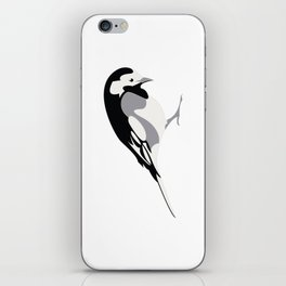 Pied Wagtail iPhone Skin