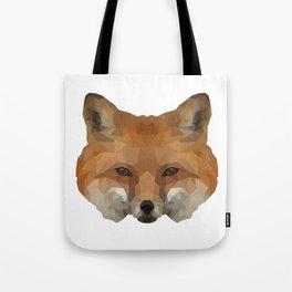 Geometrical Red Fox Tote Bag