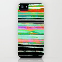 colorful abstract painting iPhone Case