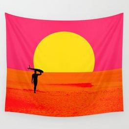 Malibu Surfer Wall Tapestry