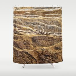 Chocolate Ripple Rock Shower Curtain