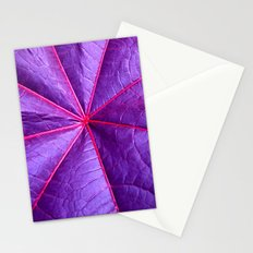 purple leaf macro XIV Stationery Cards