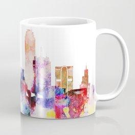 Dallas Texas City Pink Skyline Poster Coffee Mug