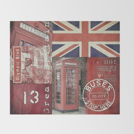 Great Britain London Union Jack England Throw Blanket