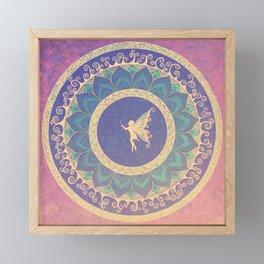 Fairy Garden Amber  Framed Mini Art Print
