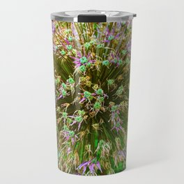 Purple Flower Close Up of Alliums Welcome to Boston Common Travel Mug