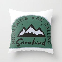 Snowbird Mountains are Calling Throw Pillow