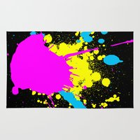 splatter Area & Throw Rugs featuring Splatter by Spooky Dooky
