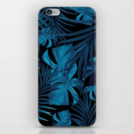 Tropical Jungle Night Leaves Pattern #2 #tropical #decor #art #society6 iPhone Skin