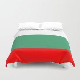 flag of bulgaria 2 -bulgarian, България,български,slav,cyrillic,Sofia,bulgaria Duvet Cover