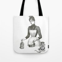cooking Tote Bags featuring Cooking by MICKEY FICKEY GALLERY