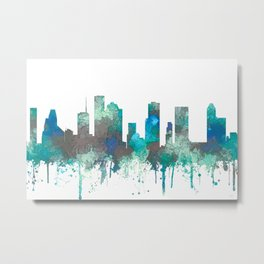 Houston, Texas Skyline - SG Jungle Metal Print