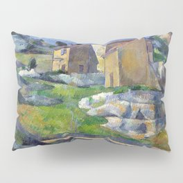 1883 - Paul Cezanne - Houses in Provence, The Riaux Valley near L'Estaque Pillow Sham