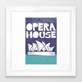 Tourist Sites- Opera House Framed Art Print
