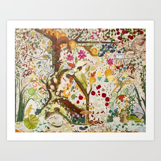 Fantasy Jacobean Forest Art Print